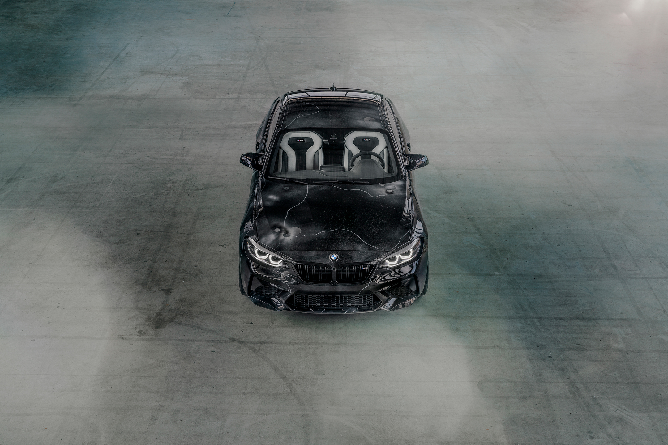 BMW M2 by FUTURA 2000 - Street Art Car - 2020 - top front-face