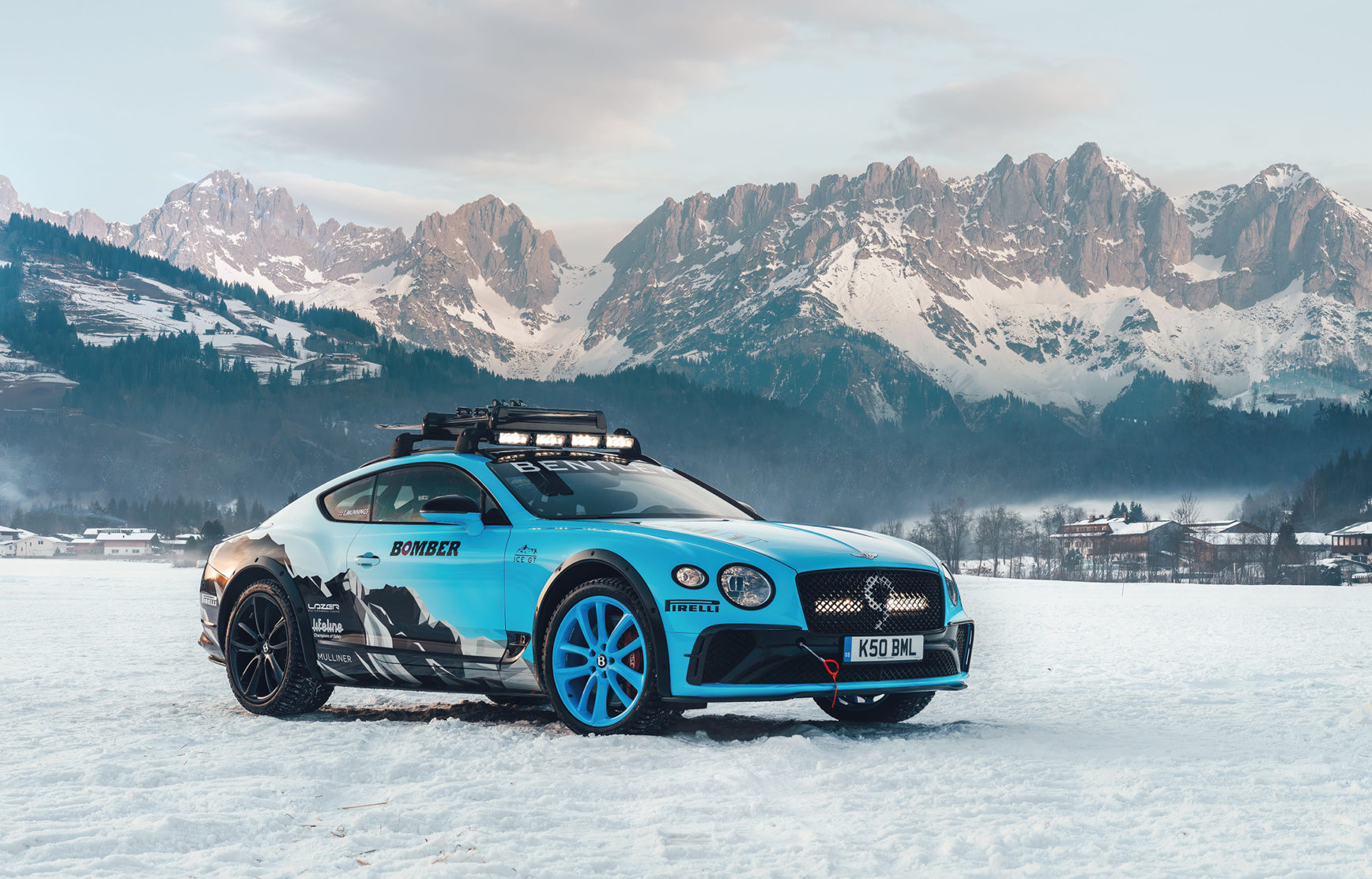 Bentley Continental GT Ice Race - 2020 - front side-face / profil avant