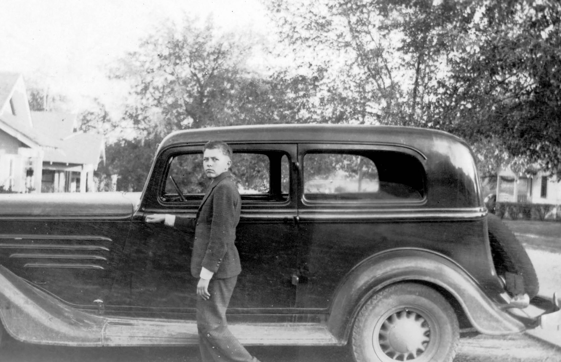 Carroll Shelby - 1938 - father's Ford - heritage photography - via Shelby America