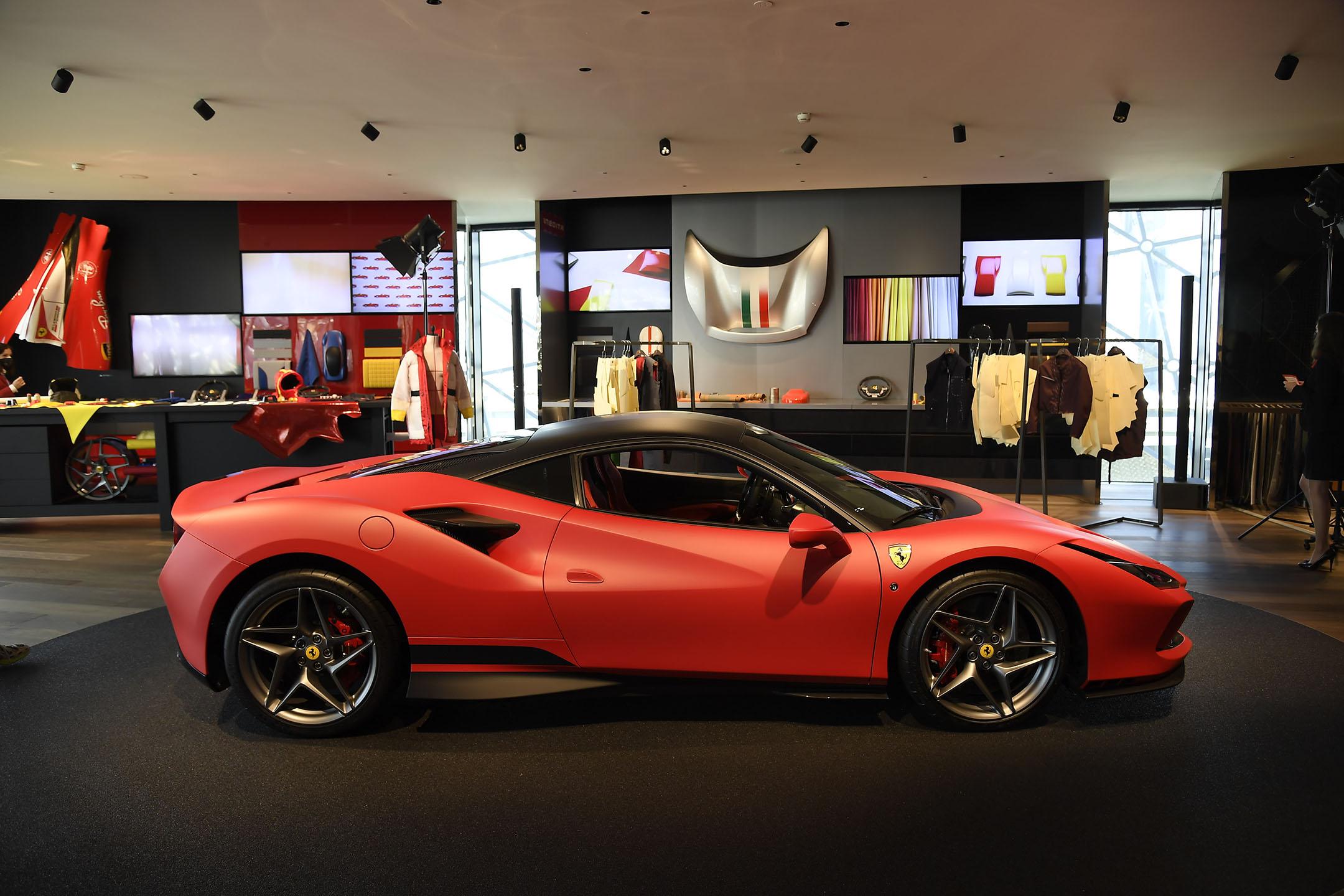 Ferrari fashion show - behind the scenes - automobili - 2021 - photo by Giovanni Giannoni via WWD