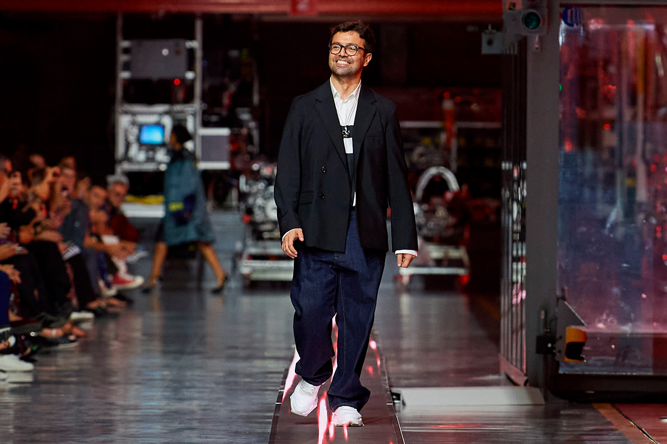 Ferrari fashion show - 1st collection - 2021-fashion designer Rocco Iannone - finish catwalk - cropped foto by Filippo Fior