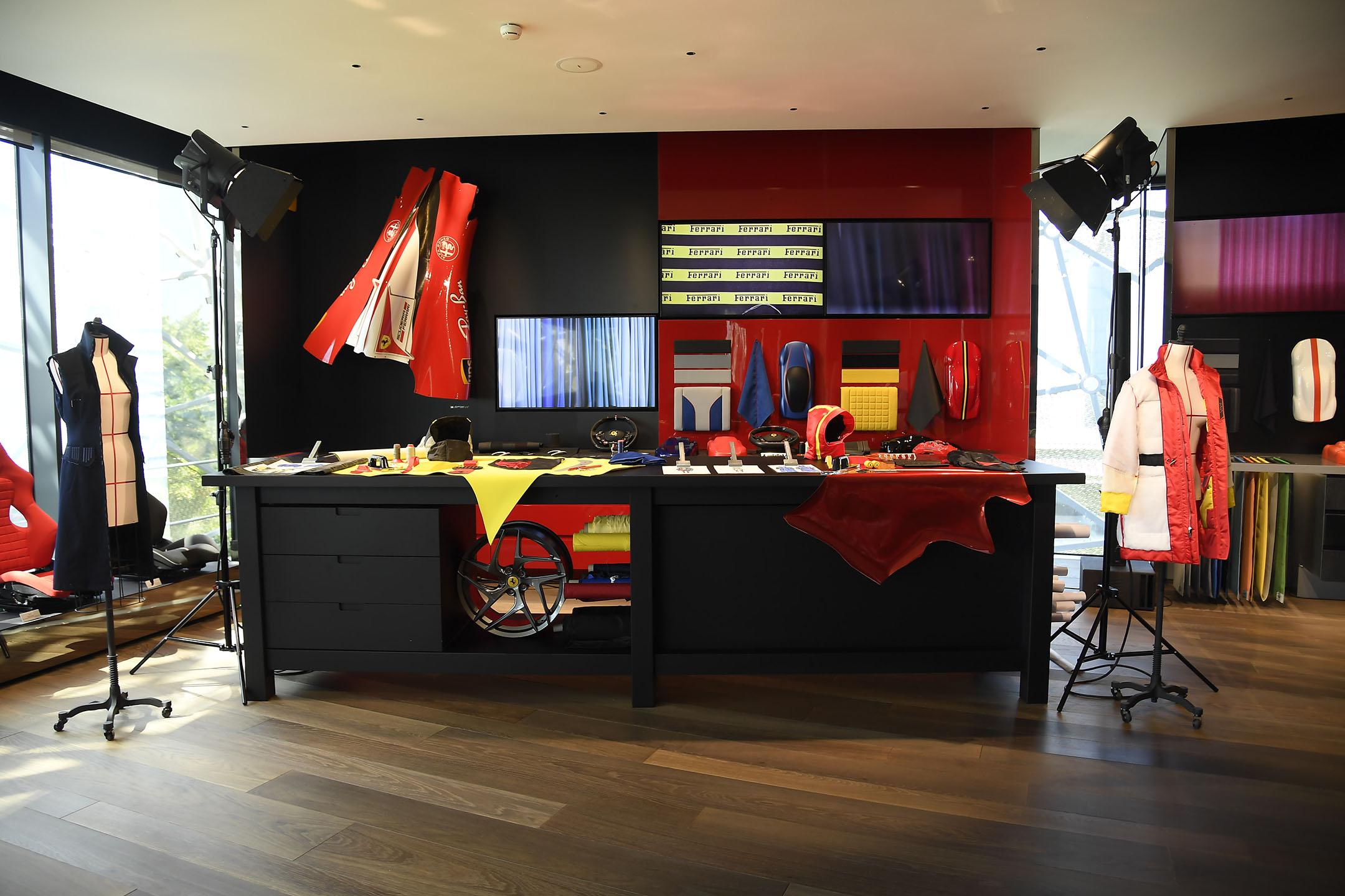 Ferrari fashion show - behind the scenes - office - 2021 - photo by Giovanni Giannoni via WWD