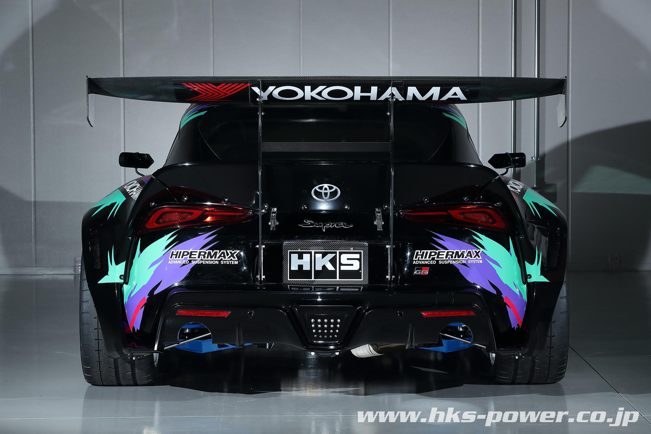 HKS Toyota GR Supra Drift - 2019 - rear face / face arrière