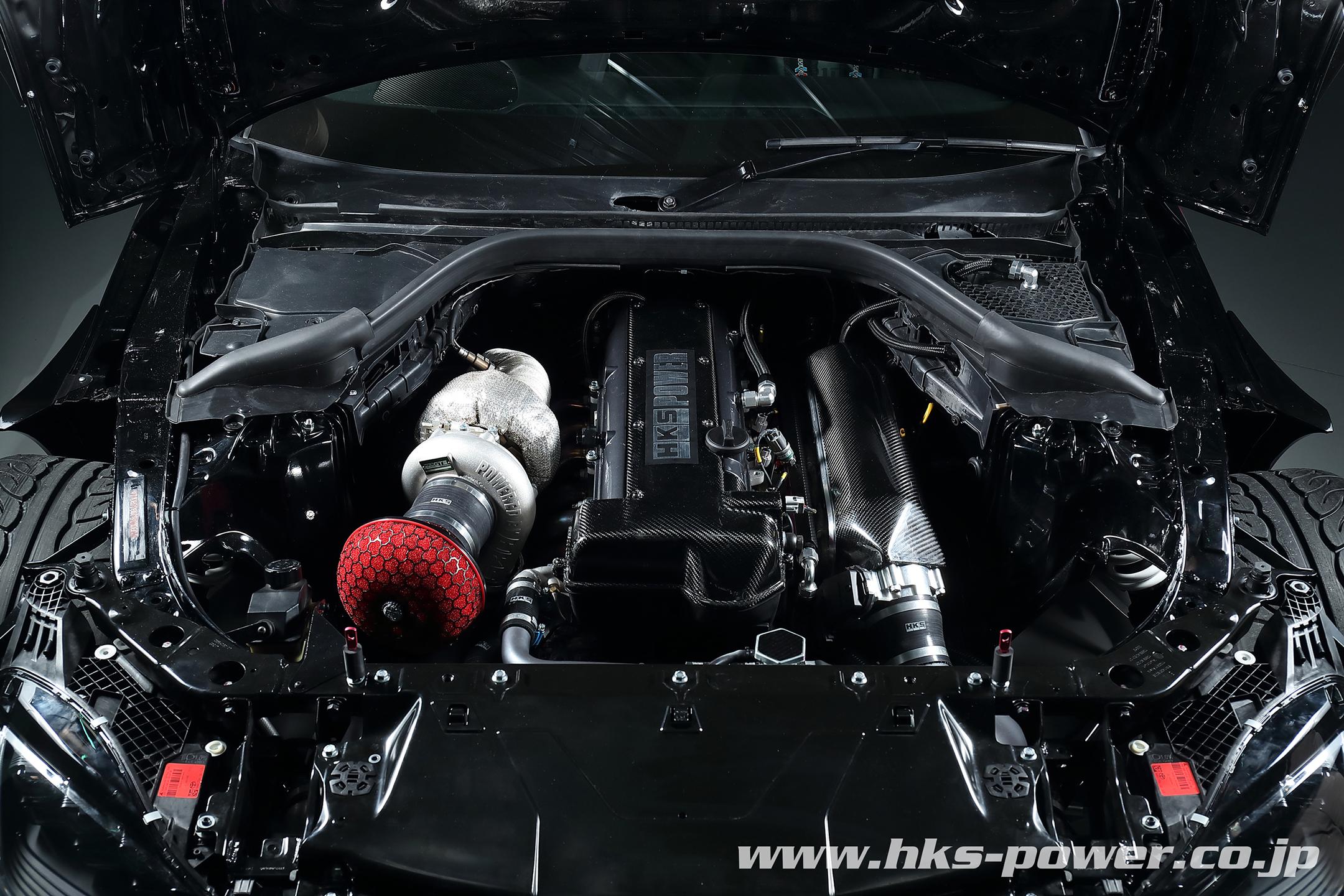 HKS Toyota GR Supra Drift - 2019 - under the hood - engine / moteur - 2JZ-GTE - Turbo