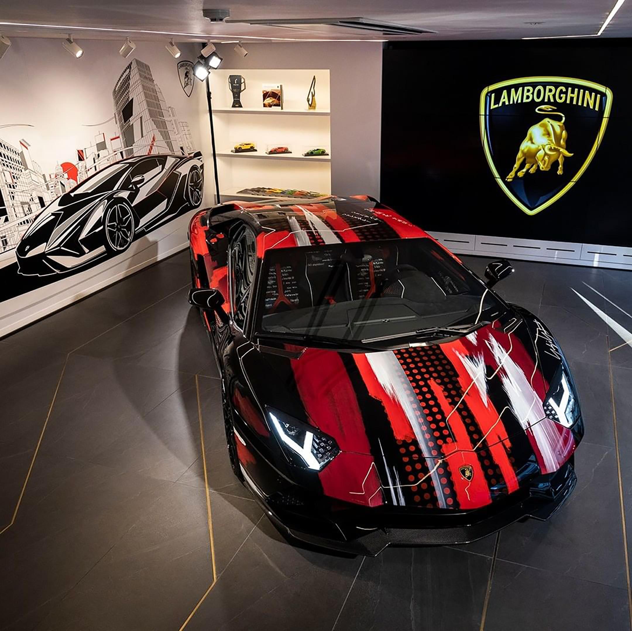 Lamborghini Aventador S x Yohji Yamamoto fashion designer - 2020 - THE LOUNGE TOKYO - preview