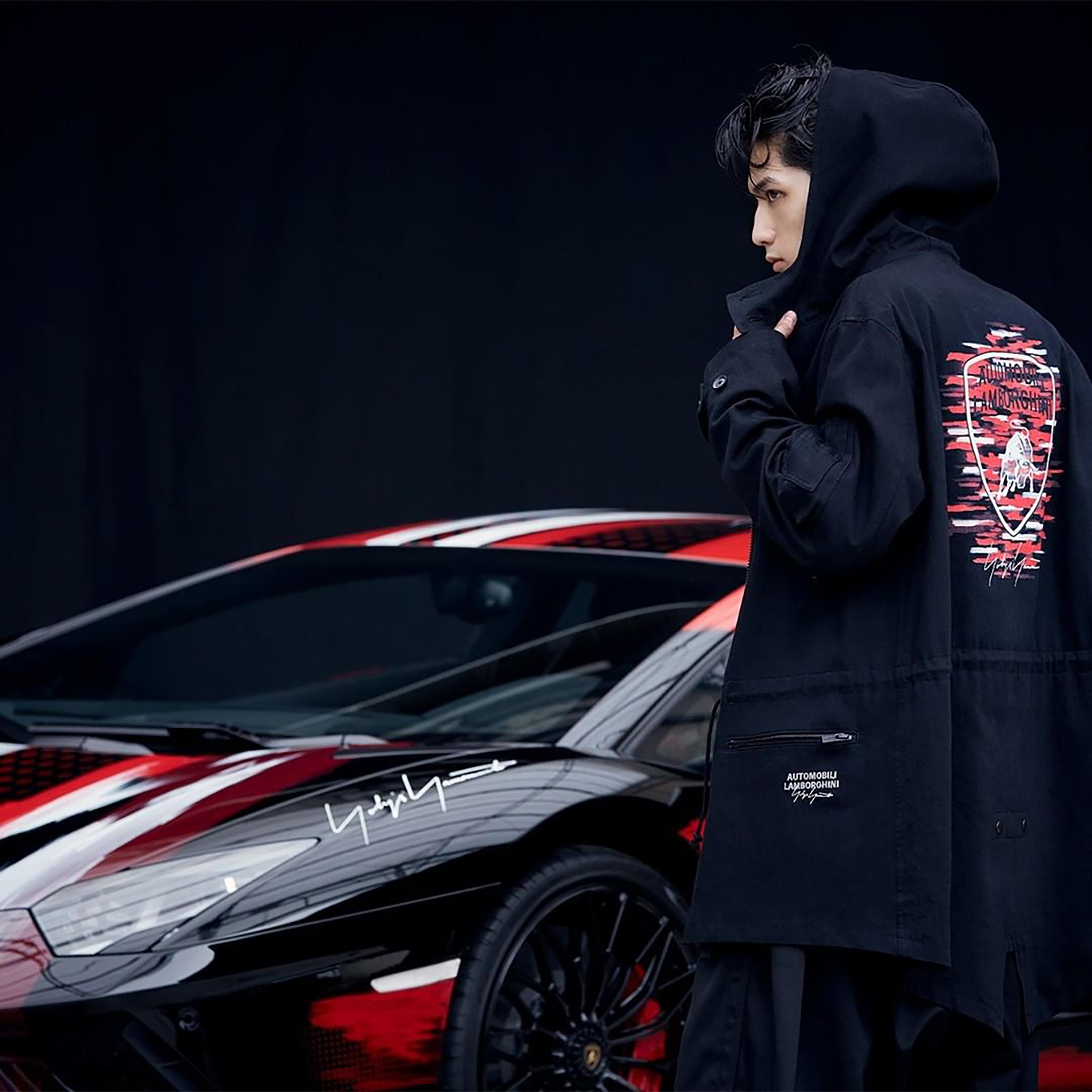 Lamborghini Aventador S x Yohji Yamamoto fashion designer - 2020 - cobrand collection - preview