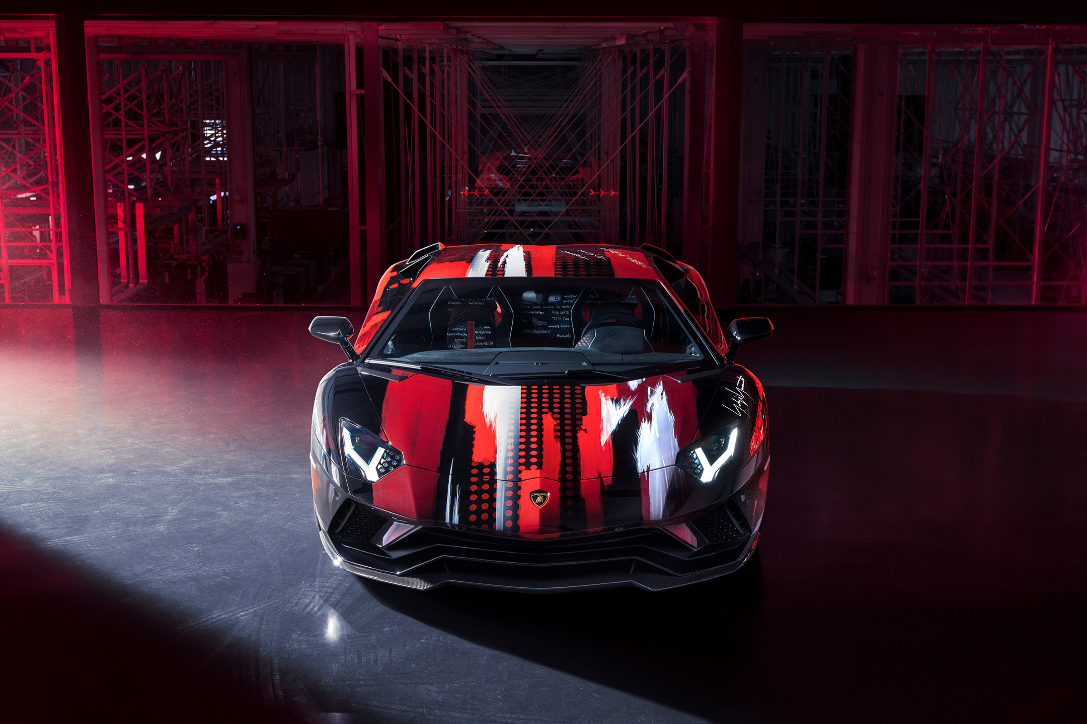 Lamborghini Aventador S x Yohji Yamamoto fashion designer - 2020 - front-face / face avant