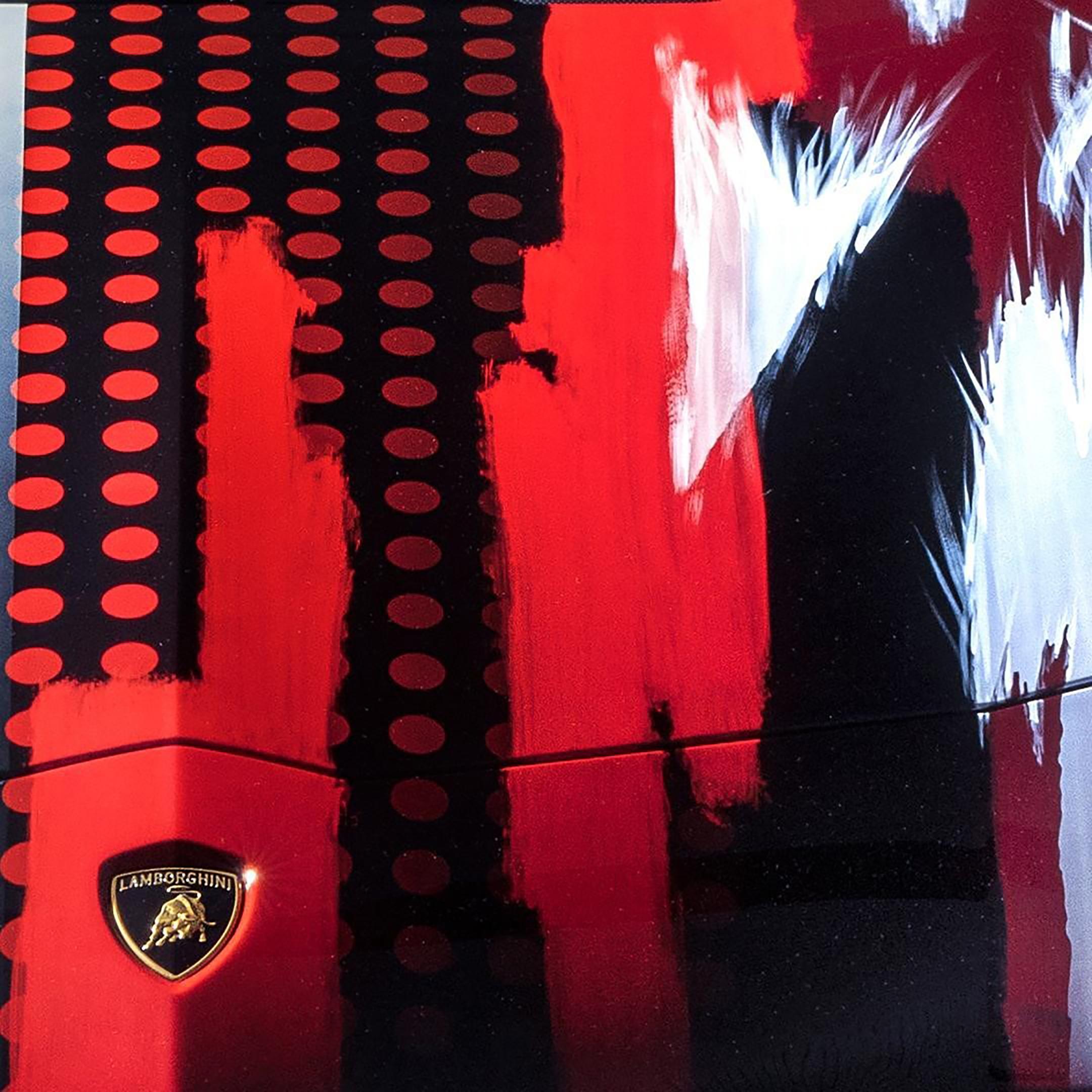 Lamborghini Aventador S x Yohji Yamamoto fashion designer - 2020 - hood artwork - preview