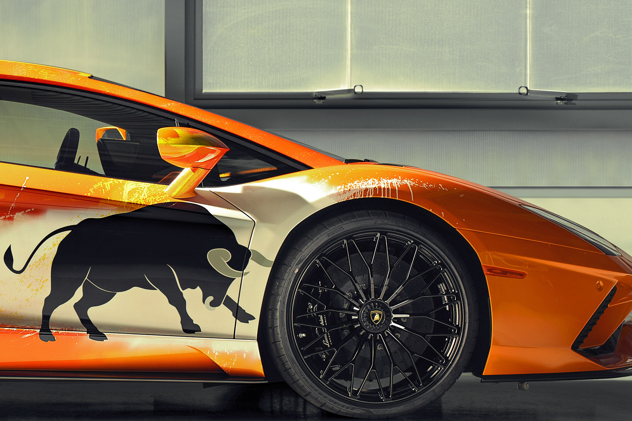 Lamborghini one-off Aventador S by Skyler Grey Art - 2019 - front wheel / jante avant