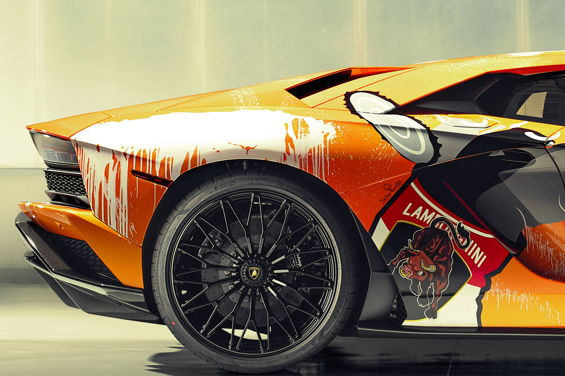 Lamborghini one-off Aventador S by Skyler Grey Art - 2019 - rear wheel / jante arrière
