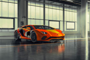 Lamborghini one-off Aventador S by Skyler Grey Art - 2019 - front side-face / profil avant