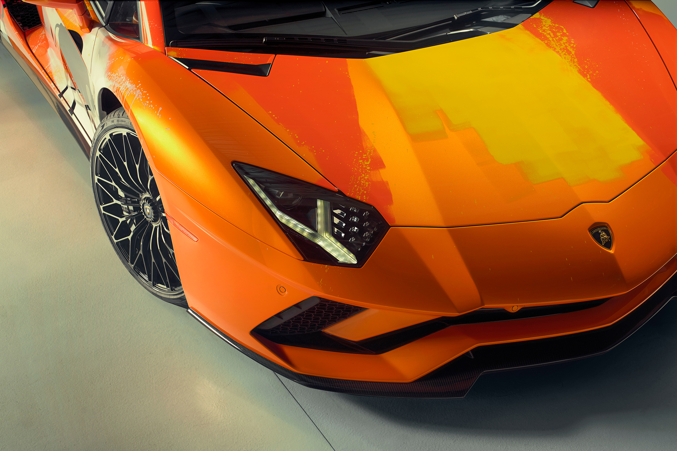 Lamborghini one-off Aventador S by Skyler Grey Art - 2019 - front light