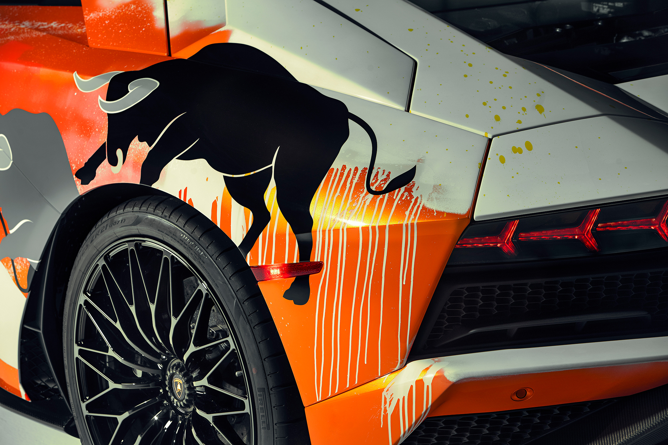 Lamborghini one-off Aventador S by Skyler Grey Art - 2019 - rear light