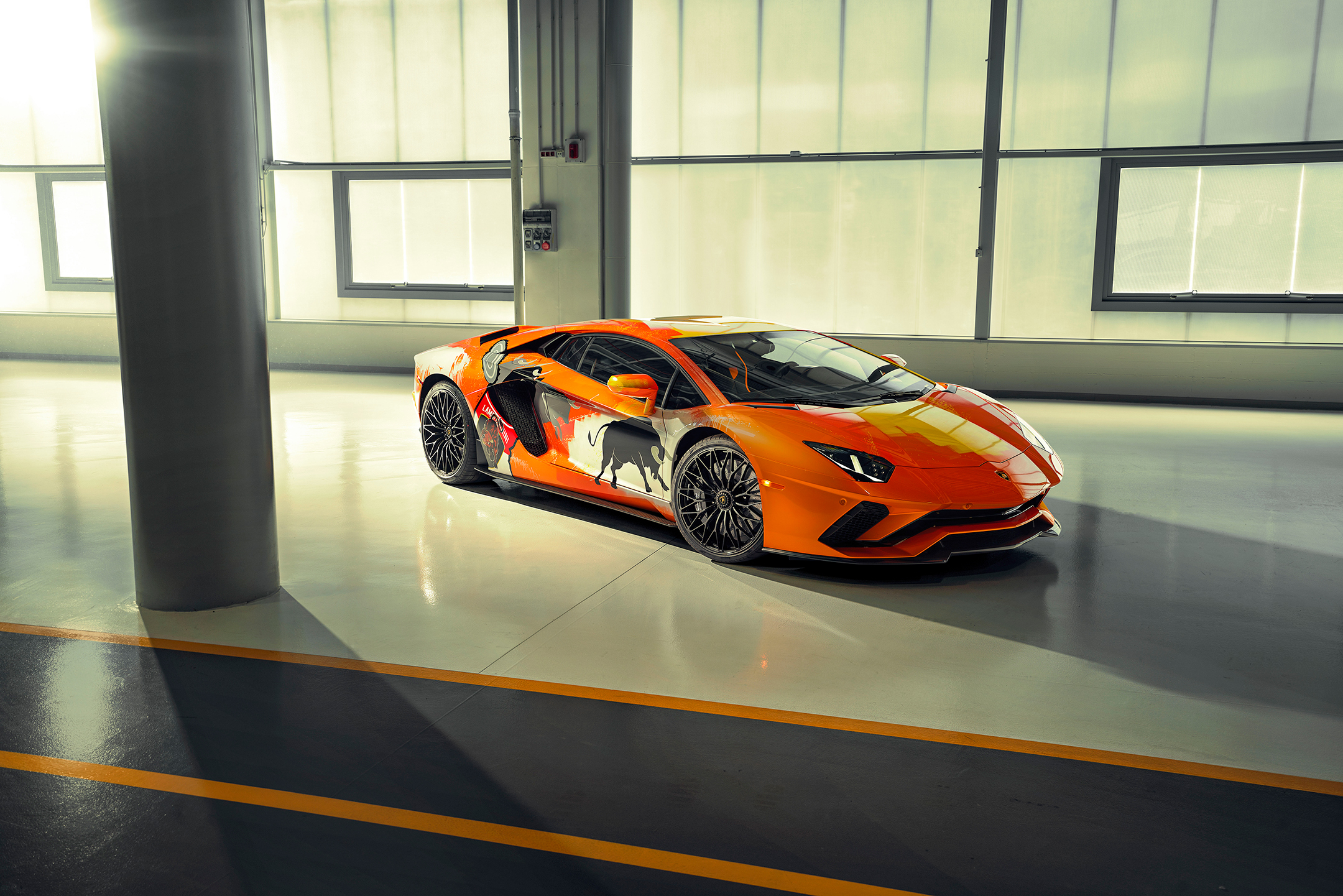 Lamborghini one-off Aventador S by Skyler Grey Art - 2019 - top - front-face / face avant
