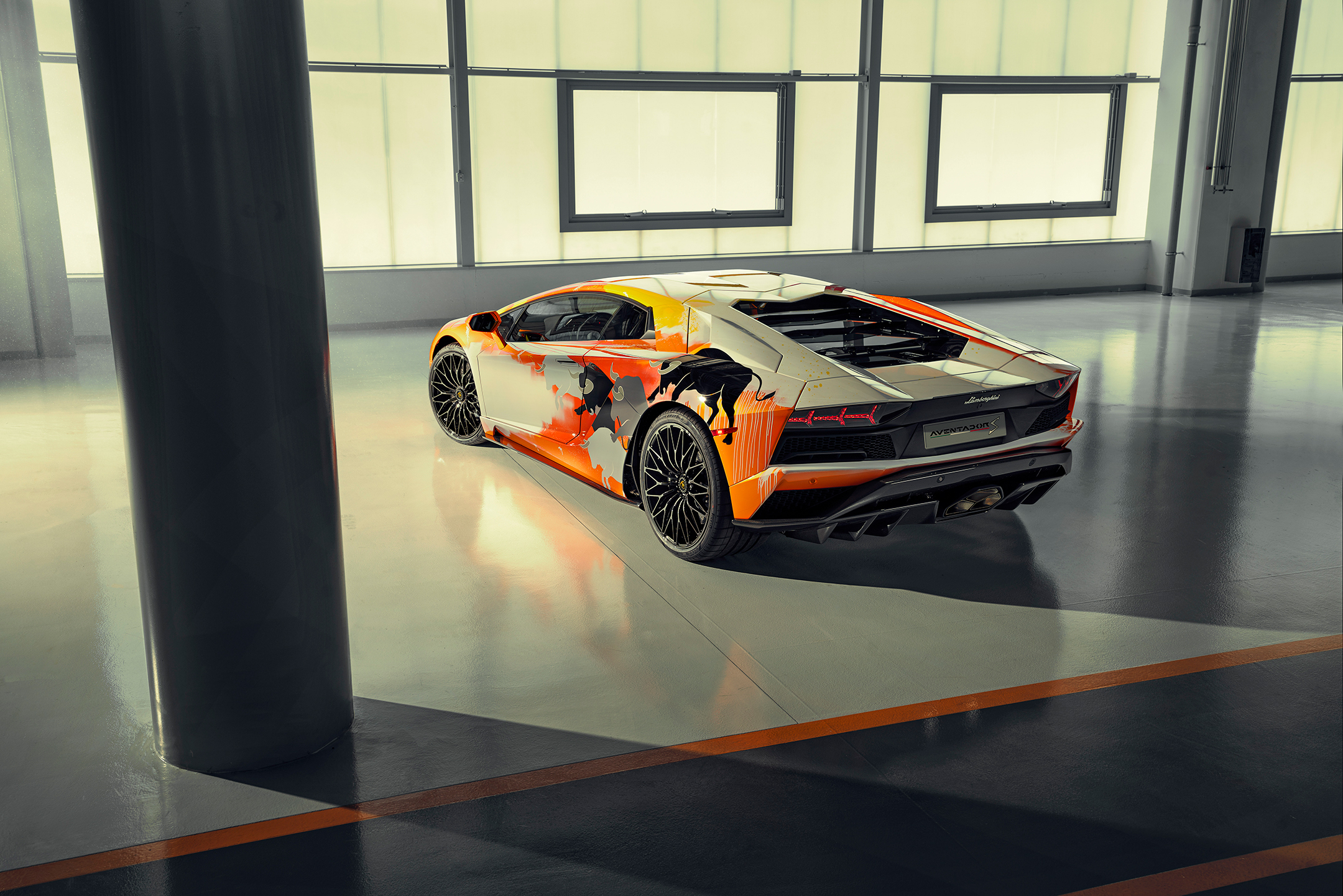 Lamborghini one-off Aventador S by Skyler Grey Art - 2019 - top - rear-face / face arrière