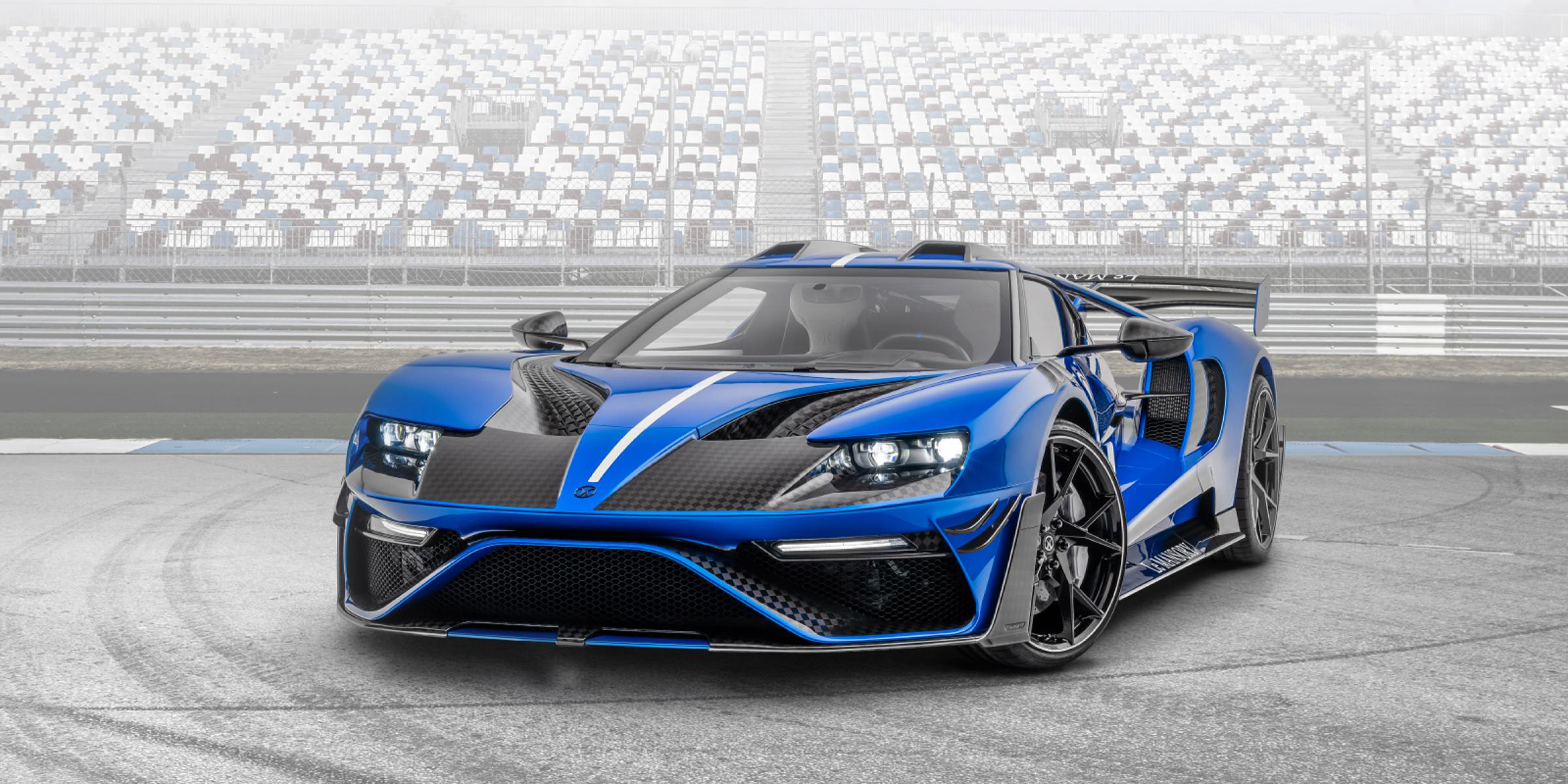 Le MANSORY - Ford GT custom - 2020 - front side-face / profil avant