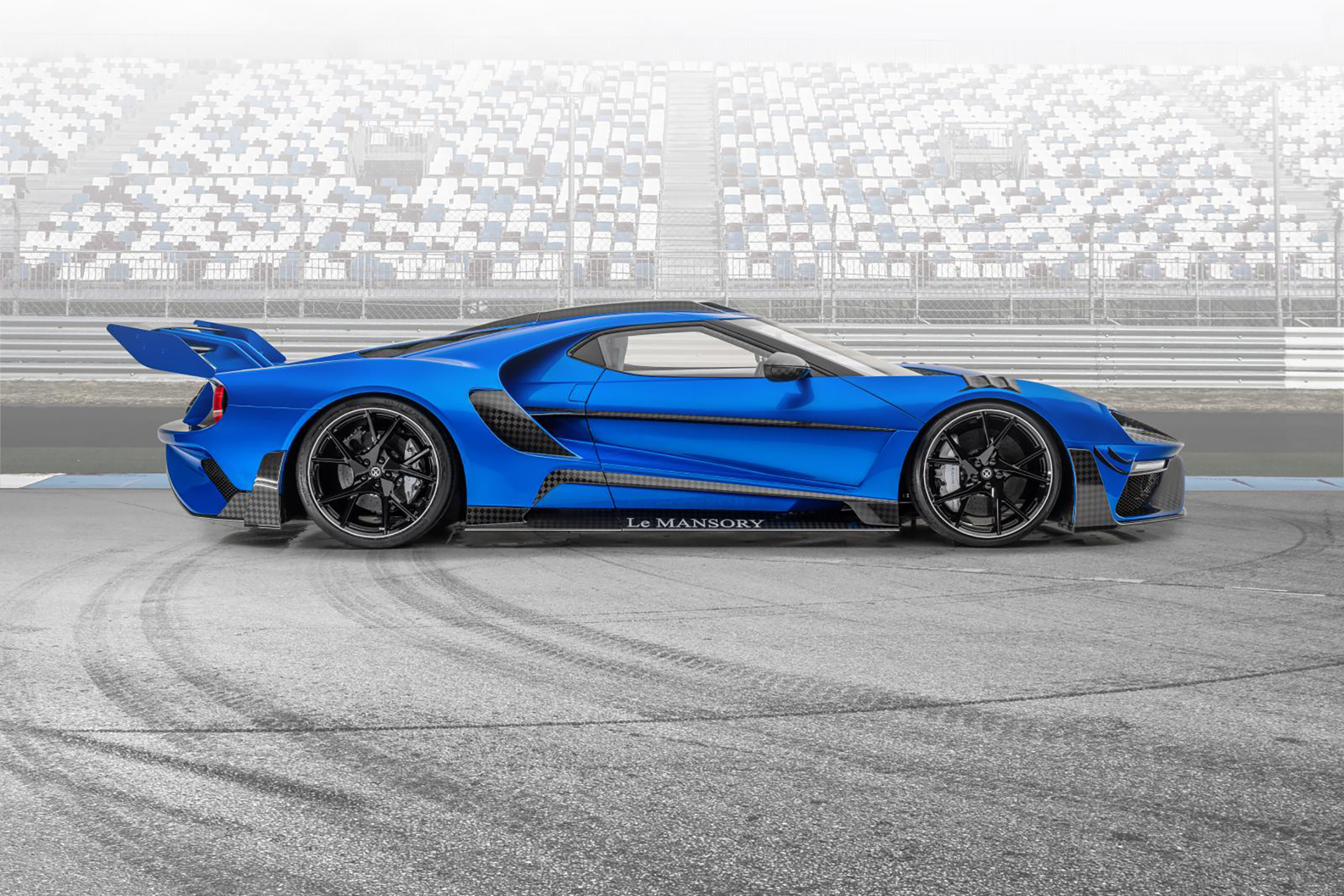 Le MANSORY - Ford GT custom - 2020 - side-face / profil