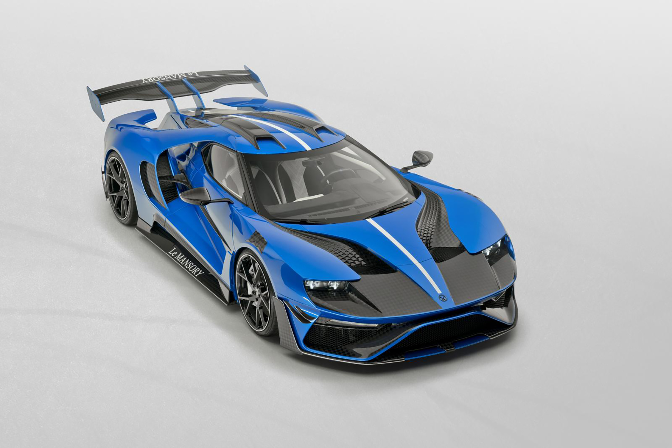 Le MANSORY - Ford GT custom - 2020 - top view - front side-face / profil avant