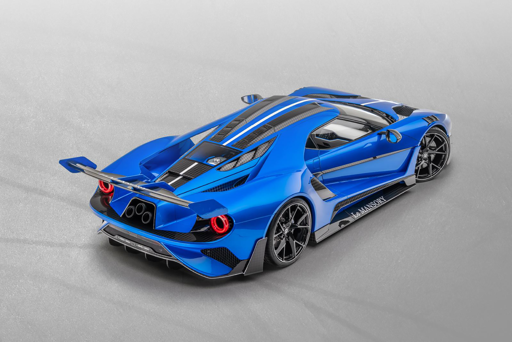 Le MANSORY - Ford GT custom - 2020 - top view - rear side-face / profil arrière