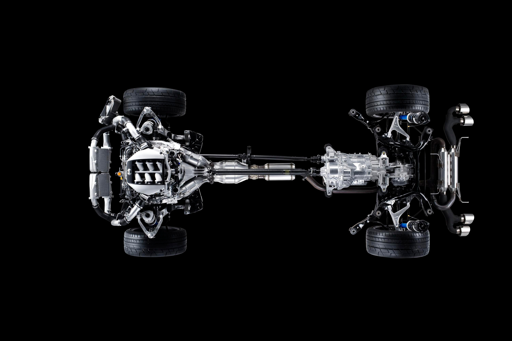 Nissan GT-R - 2010 - chassis / châssis - top view