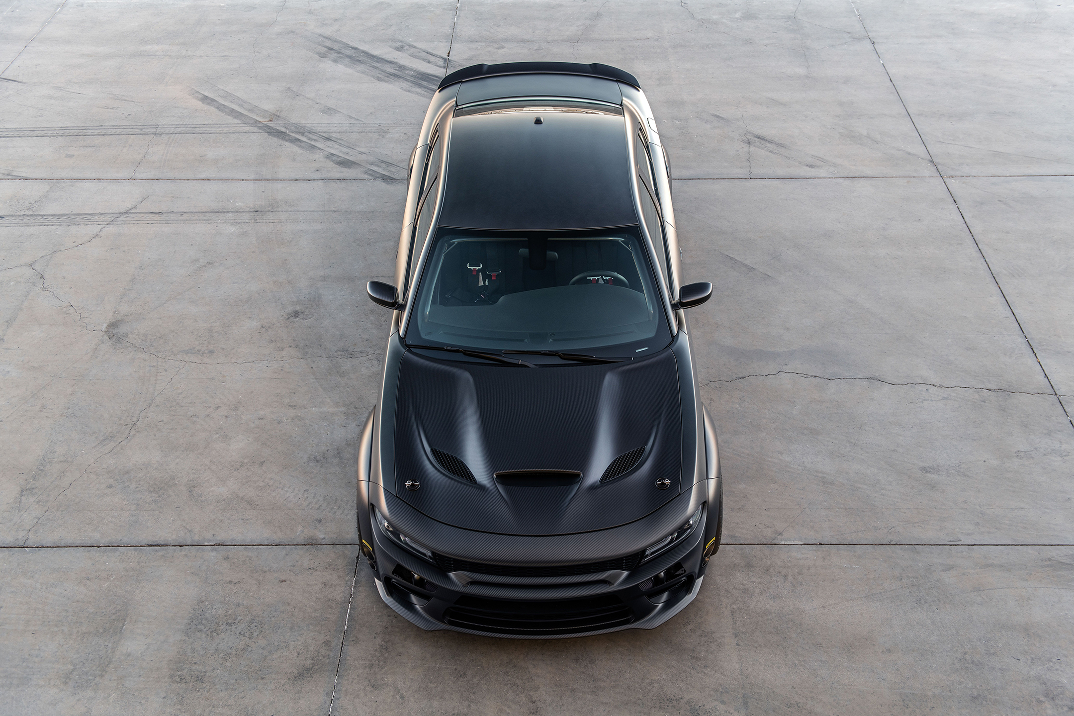 SpeedKore Dodge Charger - 2019 - front-face / face avant - top view