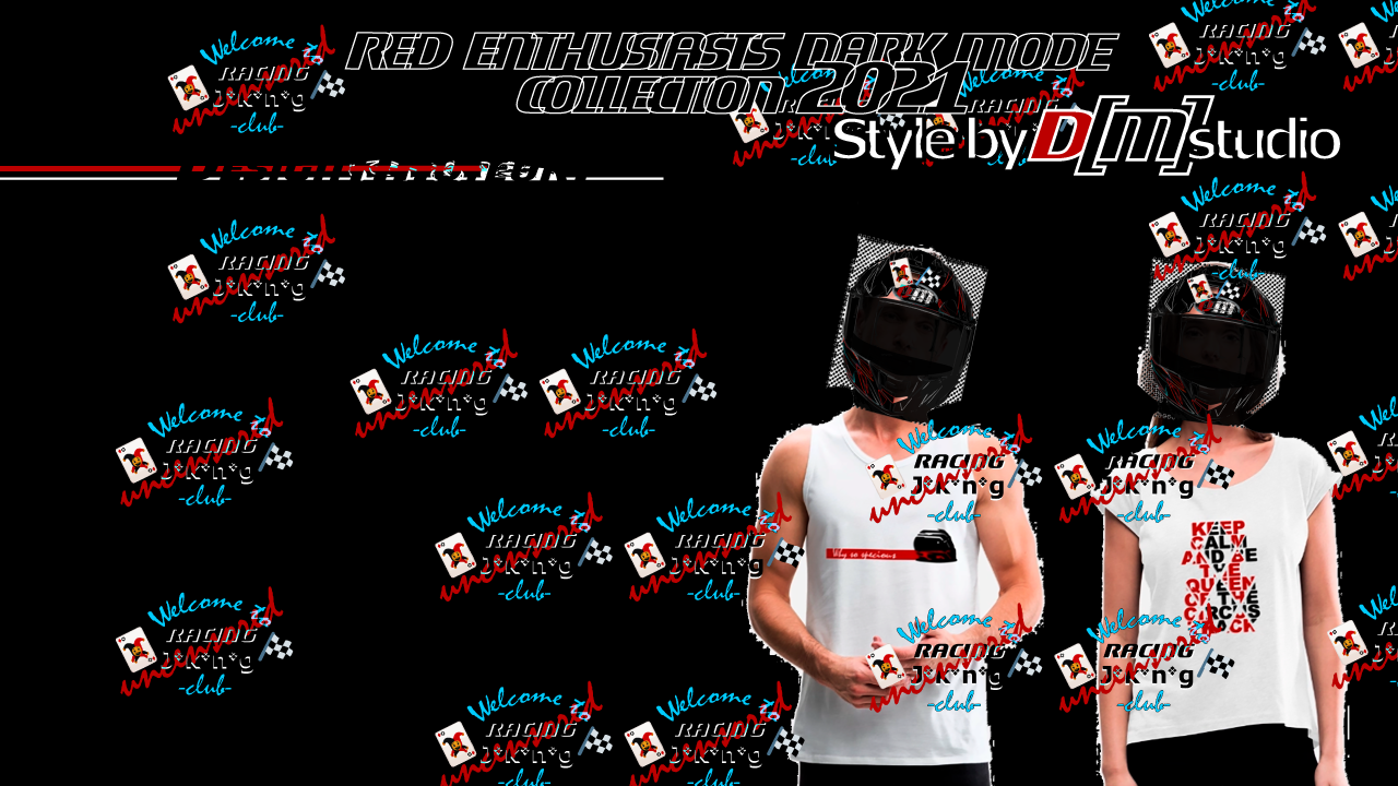 ad - Red Enthusiasts Dark Mode Collection 2021 - style by D[M] studio - uncnsred unlimited - Tshirt - motorsport x fashion
